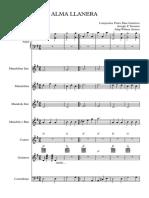 Alma Llanera Score y Partituras Adaptacion