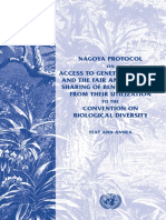 Nagoya Protocol on Access to Genetic Resources and the Fair and Equitable Sharing of Benefits