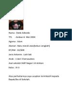 Biodata Dede Adesida Kelas Xi-3