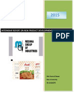 Report on new product development