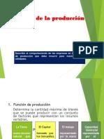 Tópico sobre teoría de La Producción