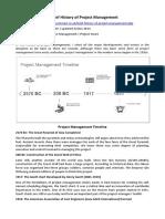 ARTIGO - FUNDAMENTOS - A Brief History of Project Management (Duncan Haughey).docx