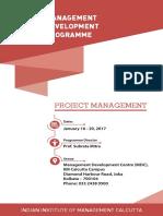 Project Management Jan 2017