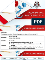 Pelan Taktikal Panitia Sains 2019