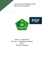 RPP Kelas 2 Tema 5_Sub Tema 1