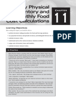 16. Chapter 11 - Monthly Physical Inventory and Monthly Food Cost Calculations
