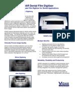 Vidar Dental Film Digitizer Data Sheet