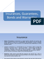 Insurance, Bonds, Gurantees