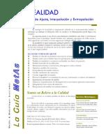 LINEALIDAD Curvas de Ajuste, Interpolación y Extrapolación - PDF