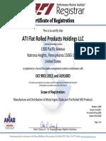 ATI ISO Certificate