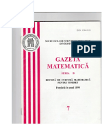 GAZETA MATEMATICA Seria B N0 7/2006