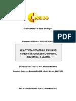 Le Attivita Strategiche Chiave Cemiss_2012