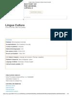 Lingua Cultura _ Directory of Open Access Journals