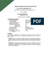 Silabo Concreto Armado II - 2018 II