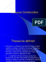 Thesaurus Construction