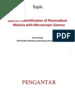 3. Dr. Krissin - Petunjuk Mendiagnosa Spesies Malaria Manusia Dengan Giemsa Mikroskopik Updated 24 Oct 17