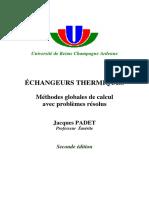 Echangeurs Thermiques_Méthodes Globales de Calcul Avec Problèmes Résolus