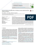 Characterization and Application of Cellulose Acetate Synthesized From