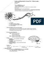 What to Study Nervous Endocrine Repro