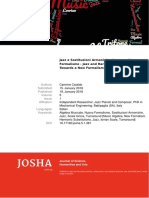 Tmp PDF Jazz e Sostituzioni Armoniche Verso Un Nuovo Formalismo Jazz and Harmonic Substitutions Towards a New Formalism
