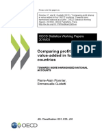 Comparing profit shares in value-added in four OECD countries