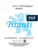 Tiranti Sculpt Catalogue 2018
