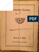 Hall, Manly P. - Manuscript Lectures No.18 - The Fourth Dimension and the Third Eye.pdf