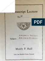 Hall, Manly P. - Manuscript Lectures No.21 - Teacher and Student (1924).pdf