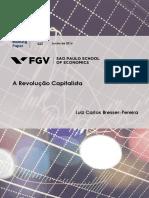 Bresser-Pereira. A Revolução Capitalista