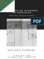 Afiche - orquesta de guitarras de Peñalolén
