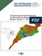 Caracterização Geomorfológica Do Município de Barreiras, Oeste Baiano, Escala 1 100.00.