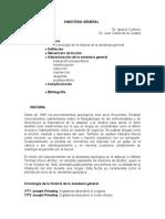 1. Anestesia General