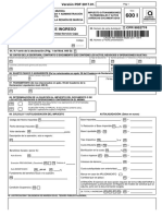 Modelo oficial 601 para imprimir