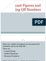 Significant Figures and Rounding Off Numbers