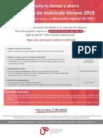 Información Matrícula Enero 2019 - Flyer Hipervinculo