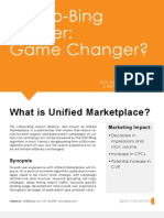 Geary Interactive POV | Bing-Yahoo Merger Unified Marketplace