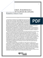 Michel Foucault. Arquitectura y panóptico en la cárcel de Ushuaia. Roberto Hilson Foot