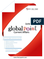 Monthly Global Point Current Affairs June 2018