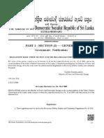Sri Lanka Gazatte - Electricity Act Amd. 2016