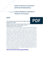 Pubblicazioni Su Diete Ma Pi in Riviste Scientifiche Internazionali(1)