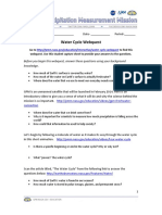 water cycle webquest student capture sheet