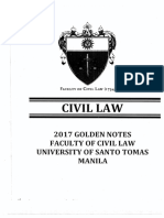 UST GOLDEN NOTES CIVIL LAW 2017