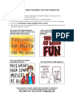 Yearbook Grad Squares Tips and Examples