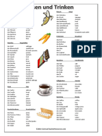 Food and Drink Vocab List