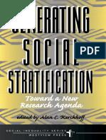 Alan C Kerckhoff - Generating Social Stratification_ Toward a New Research Agenda (Social Inequality) (1999, Westview Press)
