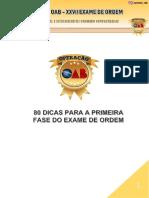 80 DICAS OAB