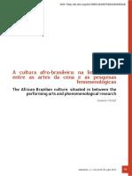 Afro Fenomenologia