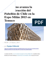 Mira Cómo Avanza La EXPO Milan Chile