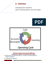 Working Capital Assessment Methods