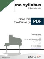 Piano Syllabi